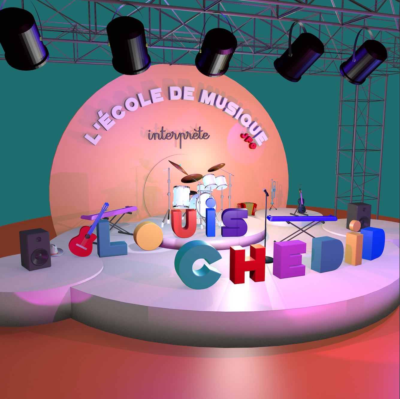 CD disponible «L'Ecole de musique JFG interprète Louis Chedid»